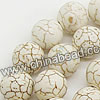 Gemstone Beads, Howlite, Cream white, Smooth round, Approx 12mm, Hole: Approx 1-2mm, 33 pcs per strand, Sold by strands