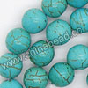 Gemstone Beads, Howlite, Turquoise, Smooth round, Approx 8mm, Hole: Approx 1-2mm, 50 pcs per strand, Sold by strands