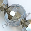 Glass Beads, Hand-cut Crystal, Smoky quartz aurora borealis, Faceted round, 96 facets, Approx 16mm, Hole: Approx 1mm, Sold by strands