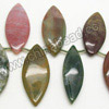 Gemstone Beads, Fancy Jasper, Smooth marquise shape, Approx 43x18x6mm & 39x14x6mm, Hole: Approx 1.5mm, 30 pcs per strand, Sold by Strands