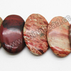 Gemstone Beads, Rainbow Jasper, Smooth flat oval, Approx 20x30x5mm, Hole: Approx 1.5mm, 25 pcs per strand, Sold by Strands