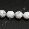 Gemstone Beads, White Howlite, Faceted round, Approx 10mm, Hole: Approx 1.5mm, 40 pcs per strand, Sold by Strands