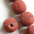 Gemstone Beads, Lava Rock, Bright red, Round, Approx 16mm, Hole: Approx 1mm, 25pcs per strand, Sold by strands