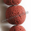 Gemstone Beads, Lava Rock, Bright red, Round, Approx 25mm, Hole: Approx 1mm, 16pcs per strand, Sold by strands