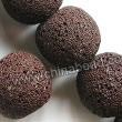 Gemstone Beads, Lava Rock, Brown, Round, Approx 18mm, Hole: Approx 1mm, 22pcs per strand, Sold by strands