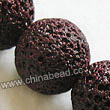 Gemstone Beads, Lava Rock, Dark red, Round, Approx 20mm, Hole: Approx 1mm, 20pcs per strand, Sold by strands