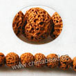 Gemstone Beads, Lava Rock, Dark yellow, Round, Approx 6mm, Hole: Approx 1mm, 63pcs per strand, Sold by strands