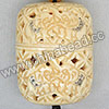Carved Bone Jewelry Box, Ivory, Adorable elephants  scrimshaw, Cuboid, Approx 67x51x35mm, Hole: Approx 2mm, Sold by PCS