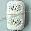 Carved Bone Jewelry Box, White, Lovely tortoises with Scrimshaw of flowers, Cuboid, Approx 84x51x37mm, Hole: Approx 2mm, Sold by PCS