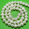 Pearl Beads, Cultured Freshwater Pearl, White, Potato shape, Approx 6-7mm, Hole: Approx 0.8mm, 60 pcs per strand, Sold by strands