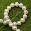 Pearl Beads, Cultured Freshwater Pearl, White, Round, Approx 6-7mm, Hole: Approx 0.8mm, 60 pcs per strand, Sold by strands