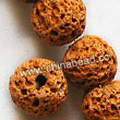 Gemstone Beads, Lava Rock, Dark yellow, Round, Approx 16mm, Hole: Approx 1mm, 25pcs per strand, Sold by strands