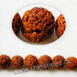 Gemstone Beads, Lava Rock, Orange, Round, Approx 6mm, Hole: Approx 1mm, 63pcs per strand, Sold by strands