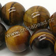 Gemstone Beads, Tigereye, Brown, Round, Approx 10mm, Hole: Approx 1mm, Sold per 16-inch strand