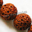 Gemstone Beads, Lava Rock, Orange, Round, Approx 18mm, Hole: Approx 1mm, 22pcs per strand, Sold by strands