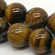 Gemstone Beads, Tigereye, Brown, Round, Approx 18mm, Hole: Approx 1mm, Sold per 16-inch strand