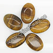 Gemstone Beads, Tigereye, Brown, Flat oval, Approx 20x30x6mm, Hole: Approx 1mm, Sold per 16-inch strand