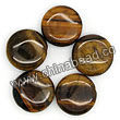 Gemstone Beads, Tigereye, Brown, Flat round, Disc, Approx 15x5mm, Hole: Approx 1mm, Sold per 16-inch strand