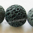 Gemstone Beads, Lava Rock, Blue grey, Round, Approx 20mm, Hole: Approx 1mm, 20pcs per strand, Sold by strands