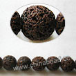 Gemstone Beads, Lava Rock, Dark brown / coffee, Round, Approx 6mm, Hole: Approx 1mm, 63pcs per strand, Sold by strands