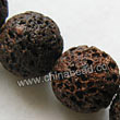 Gemstone Beads, Lava Rock, Dark brown / coffee, Round, Approx 18mm, Hole: Approx 1mm, 22pcs per strand, Sold by strands