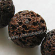 Gemstone Beads, Lava Rock, Dark brown / coffee, Round, Approx 20mm, Hole: Approx 1mm, 20pcs per strand, Sold by strands