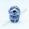 Porcelain Animal Beads, Sky blue, Dog, Chinese Zodiac, Animal, Approx 14x10x13mm, Hole: Approx 2mm, Sold by PCS