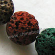 Gemstone Beads, Lava Rock, Mixed colors, Round, Approx 20mm, Hole: Approx 1mm, 20pcs per strand, Sold by strands