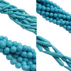 Blue Malachite Beads