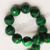 Gemstone Beads, Imit. Green Malachite, Faceted round, Approx 12mm, Hole: Approx 1mm, Sold by strands