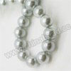 Pearl Beads, Glass Pearl, Color #08, Smooth round, Approx 10mm, Hole: Approx 1mm, Sold by strands