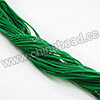 Cord Thread & Wire, Fabric Elastic Cord, Color #03 Green, Approx 0.8mm, 120 yards per bundle, Sold by bundles