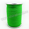 Cord Thread & Wire, Round PU Woven Cord, Limegreen, Approx 3mm, 100 yards per spool, Sold by spools