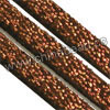 Cord Thread & Wire, Glittery faux suede lace, Color #03 brown, Approx 3x1.5mm, 100 yards per spool, Sold by spools