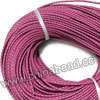 Cord Thread & Wire, Round woven leather cord, Color #3 purple, Same colored edge, Approx 3mm, 100 yards per bundle, Sold by bundles