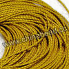 Cord Thread & Wire, Round woven leather cord, Color #7 yellow, Original colored edge, Approx 4mm, 100 yards per bundle, Sold by bundles