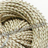 Cord Thread & Wire, Round woven leather cord, Color #26 cream white, Original colored edge, Approx 4mm, 100 yards per bundle, Sold by bundles