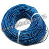 Cord Thread & Wire, Round enamel leather cord, Color #1 blue, Approx 1mm, 100 meters per bundle, Sold by bundles