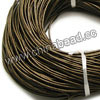 Cord Thread & Wire, Round enamel leather cord, Color #2 brown, Approx 1.5mm, 100 meters per bundle, Sold by bundles