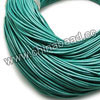 Cord Thread & Wire, Round enamel leather cord, Color #9 turquoise, Approx 1.5mm, 100 meters per bundle, Sold by bundles