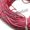 Cord Thread & Wire, Round enamel leather cord, Color #11 dark pink, Approx 1.5mm, 100 meters per bundle, Sold by bundles
