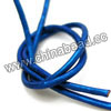 Cord Thread & Wire, Round enamel leather cord, Color #1 blue, Approx 2.5mm, 100 meters per bundle, Sold by bundles