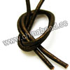 Cord Thread & Wire, Round enamel leather cord, Color #2 brown, Approx 2.5mm, 100 meters per bundle, Sold by bundles