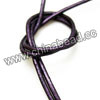 Cord Thread & Wire, Round enamel leather cord, Color #5 light indigo, Approx 2.5mm, 100 meters per bundle, Sold by bundles
