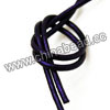 Cord Thread & Wire, Round enamel leather cord, Color #6 indigo, Approx 2.5mm, 100 meters per bundle, Sold by bundles