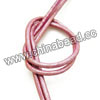 Cord Thread & Wire, Round enamel leather cord, Color #7 pink, Approx 2.5mm, 100 meters per bundle, Sold by bundles