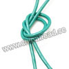 Cord Thread & Wire, Round enamel leather cord, Color #9 turquoise, Approx 2.5mm, 100 meters per bundle, Sold by bundles