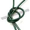 Cord Thread & Wire, Round enamel leather cord, Color #10 sea green, Approx 2.5mm, 100 meters per bundle, Sold by bundles