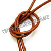 Cord Thread & Wire, Round enamel leather cord, Color #12 gold orange, Approx 2.5mm, 100 meters per bundle, Sold by bundles