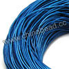 Cord Thread & Wire, Round enamel leather cord, Color #1 blue, Approx 5mm, 100 meters per bundle, Sold by bundles